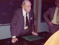 Gainesville, Florida. Paul Dirac giving a lecture