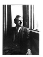 Cambridge. Paul Dirac beside window at Cavendish Laboratory