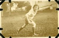 Anne Harwick Holding a Javelin