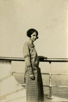 Elizabeth Byrd Taylor Standing Beside Railing
