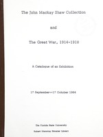 John Mackay Shaw Collection and the Great War, 1914-1918
