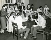 1954 Staff of the Florida Flambeau Caught Working