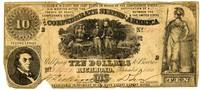 Ten Dollar Note, 1861