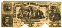 Twenty Dollar Note, 1861