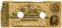 Twenty Dollar Note, 1862