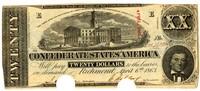Twenty Dollar Note, 1863