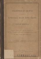 collection of recipes for the use of special diet kitchens in military hospitals