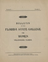 Bulletin of the Florida State College for Women