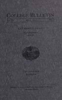 Catalogue 1910-11. Announcements 1911-12