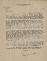 Letter from Dr. Bellamy