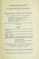 A Course Book for Freshman of Florida State College for Women