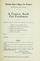 Florida State College for Women Collegiate Year 1933-1934: A Course Book for Freshman
