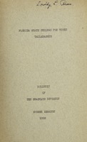 Bulletin of the Graduate Division: Summer Session 1938