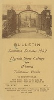 Bulletin Summer Session 1942, Florida State College for Women