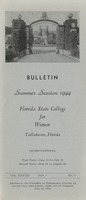 Bulletin Summer Session 1944, Florida State College for Women