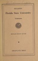 Bulletin Florida State University: Regular Session 1947-48