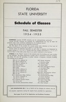 Florida State University Schedule of Classes - Fall Semester