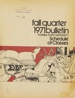 Fall Quarter 1971 Bulletin: Florida State University Schedule of Classes