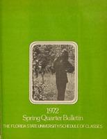 1972 Spring Quarter Bulletin: Florida State University /Schedule of Classes