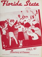 Florida State - Fall 87: Directory of Classes
