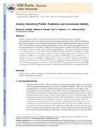 Anxiety sensitivity profile