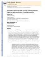 Floor effects associated with universal screening and their impact on the early identification of reading disabilities.