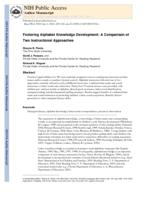 Fostering Alphabet Knowledge Development