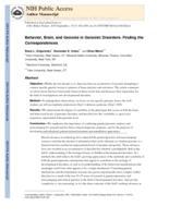 Behavior, brain, and genome in genomic disorders