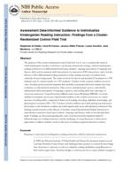 Assessment Data-Informed Guidance to Individualize Kindergarten Reading Instruction