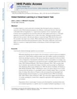 Global statistical learning in a visual search task.