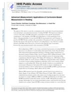 Advanced (Measurement) Applications of Curriculum-Based Measurement in Reading.
