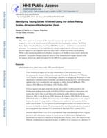 Identifying Young Gifted Children Using the Gifted Rating Scales-Preschool/Kindergarten Form.