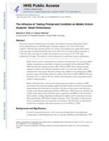 Influence of Testing Prompt and Condition on Middle School Students' Retell Performance.