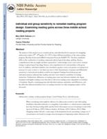 Individual and group sensitivity to remedial reading program design