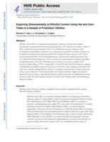Exploring dimensionality of effortful control using hot and cool tasks in a sample of preschool children.
