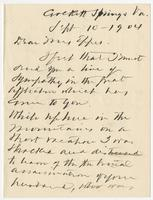 Letter addressed to Mrs. Eppes