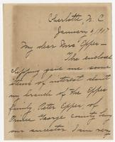 """Letter addressed to """"My dear Mrs. Eppes"""""""