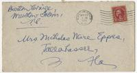 """Letter addressed to """"My dear cousin"""" from Burton Craige"""