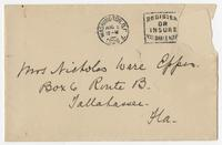 """Letter addressed to """"My dear cousin"""" from Dr. John W. Eppes"""