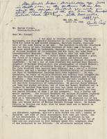 Letter from Samuel W. Bradford to Burton Craige and copied to Susan Bradford Eppes