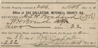 1896 Tax Receipt