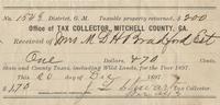 1897 Tax Receipt