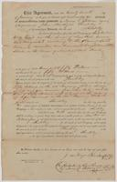 January 22, 1852 deed for land in New Port, Florida in Wakulla County