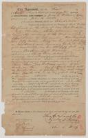 April 1, 1852 deed for land in New Port, Florida in Wakulla County