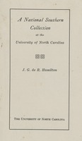 A National Southern Collection at the University of North Carolina
