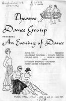 """Program for """"An Evening of Dance"""" (1953)"""