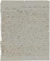 Letter from John, October 30, 1860