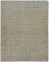 "Letter addressed to ""My dear Nic"" from Francis Eppes"