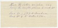 Instructions for the delivery of cotton