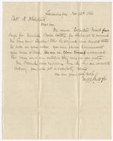 Letter from Tallahassee, Nov. 12, 1866